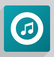 flat music icon vector image vector image