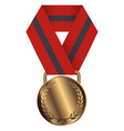 Gold Medal Isolated on White Background vector image vector image