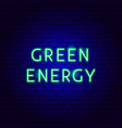 green energy neon text vector image vector image