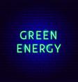 green energy neon text vector image vector image