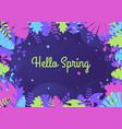 hello spring card vector image vector image