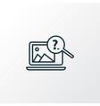 image search icon line symbol premium quality vector image vector image