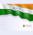 indian flag design banner and background vector image