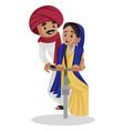 indian gujarati man cartoon vector image