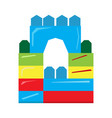 isolated geometric castle toy vector image vector image