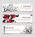 japanese banner templates asian banners with vector image vector image