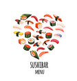 japanese food banner vector image vector image
