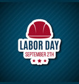 labor day paper sticker vector image vector image