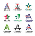 letter a in various style logo vector image