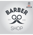 Logo icon or logotype for barbershop vector image vector image