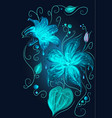 Magic fantasy neon blue flowers beauty nature