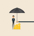 manageroffice worker or businessman with the vector image vector image