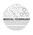 Medical diagnostic checkup graphic design concept vector image vector image
