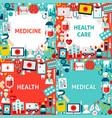 medicine paper templates vector image vector image