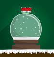 Merry Christmas empty snow globe vector image vector image