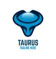 modern taurus logo vector image vector image