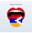 Nagorno-Karabakh language Abstract human tongue vector image vector image