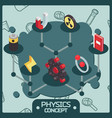 physics color isomeric concept icons vector image vector image