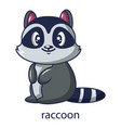 raccoon icon cartoon style vector image