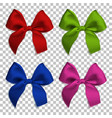realistic bows and ribbon isolated on transparent vector image