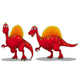 Red dinosaurs with sharp teeth vector image vector image