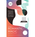 romantic elegant gig poster vector image vector image