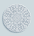 round doily with lace pattern vector image vector image