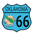 route 66 oklahoma sign and flag vector image vector image