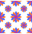 seamless blue and orange gradient flowers vector image vector image