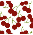 seamless pattern of cherry vector image