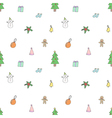 Seamless pattern of Cute Christmas Items vector image