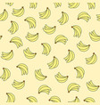 seamless pattern with bananas on yellow background vector image