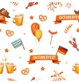 Seamless pattern with oktoberfest celebration vector image vector image