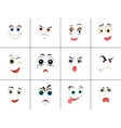 Set of Smileys with Expression of Emotions vector image vector image