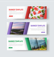 set white horizontal web banners vector image vector image