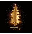 shimmering tree vector image vector image