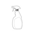 Spray bottle cleaner vector image vector image