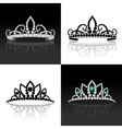 Tiara set isolated vector image vector image