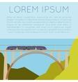train on bridge banner vector image