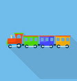 train toy with shadow icon flat style vector image