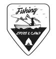 Vintage trout fishing emblems vector image