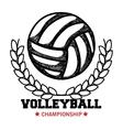 volleyball sport ball emblem vector image vector image