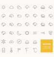 Weather Outline Icons for web and mobile apps vector image vector image
