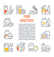 website banner and landing page food additives vector image
