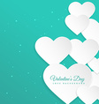 white hearts in blue background vector image vector image