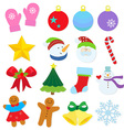 winter items vector image vector image