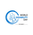 world disability day concept vector image vector image