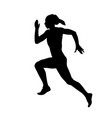 young woman sprinter runner vector image vector image