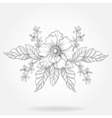 Freehand boho tattoo Blackwork flower in hipster vector image