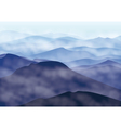 Mountains in fog vector image